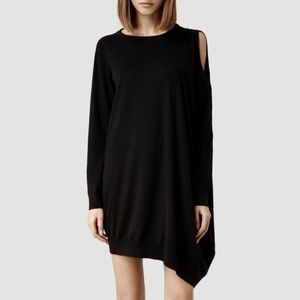 All Saints Sago Asymmetrical Sweater Dress
